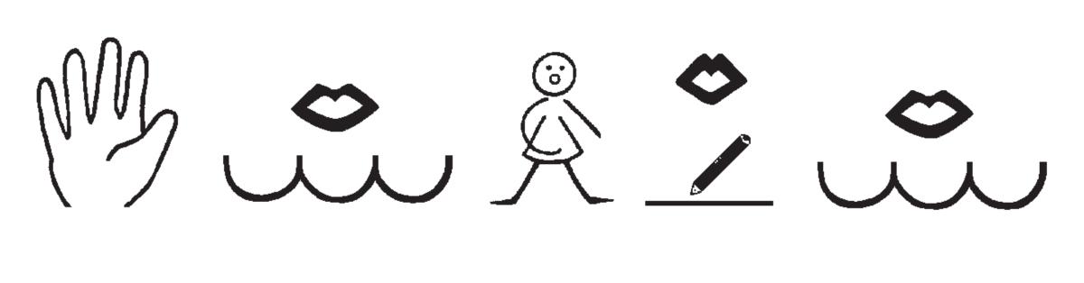 Symbole zu den Hausaufgaben im LRS-Unterricht