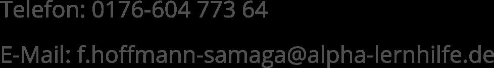 Kontaktdaten Franko Hoffmann-Samaga