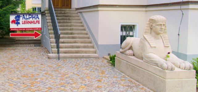 Der Eingang zum neuen Standort in Blasewitz