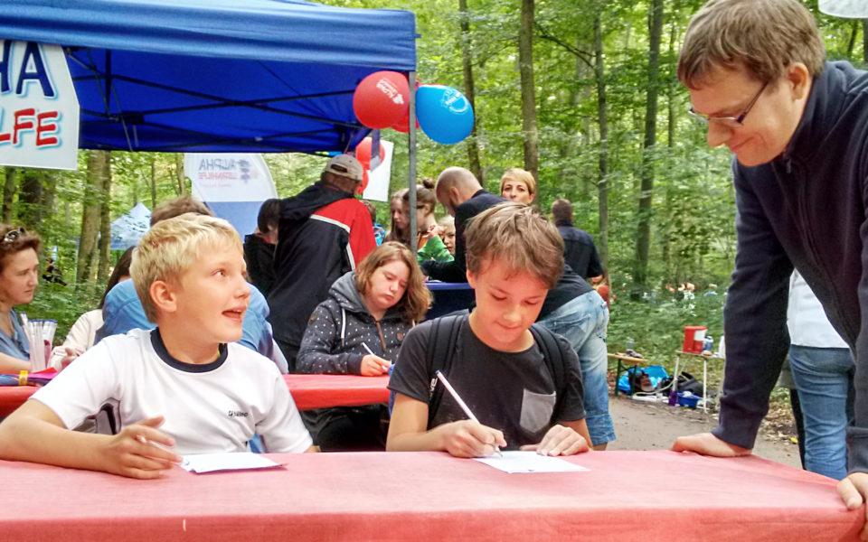 Rätselraten auf dem Forstfest in Dresden Klotzsche