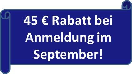 Rabatt im September für Nachhilfe